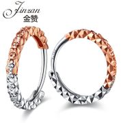Jinzan 18K gold earrings gold rose gold earrings platinum stars prize on the ear ring ear clip earrings to send his girlfriend