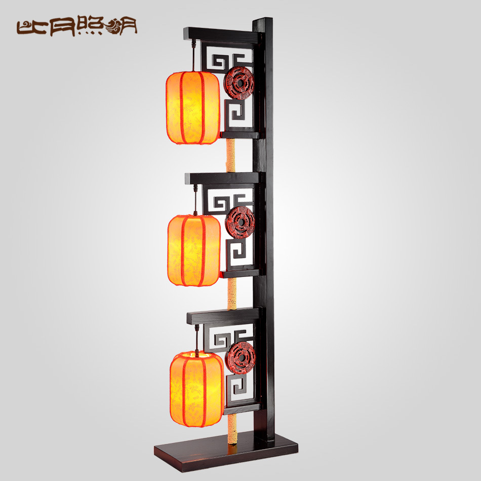 比月 明清古典台灯 客厅卧室创意书房中式现代实木装饰落地灯3387