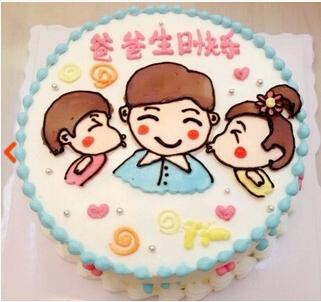 生日蛋糕创意生日蛋糕郑州洛阳太原武汉广州深圳长春送爸爸的蛋糕