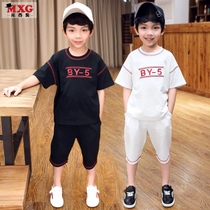 Meters West fruit children's clothing set children's boys suit for spring shipping moving kit 2018 new Western style clothes handsome