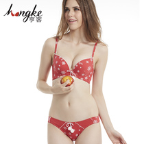 Every day special Christmas theme red girl lingerie set to send his girlfriend girls girlfriends romantic fun bra