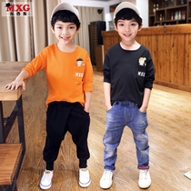 Meters West fruit children's Spring Summer dress 2018 new boys t-Shirt long sleeve bottoming shirt T-Shirt tops tide clothing cotton
