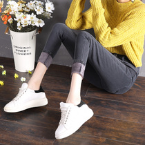 Velvet thickened jeans women high waist spring and autumn winter 2017 new style with Velvet Han version of Skinny pants