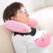 Thickened PVC flocking U-Pillow nap pillow airplane inflatable Pillow Travel portable neck u pillow Neck pillow
