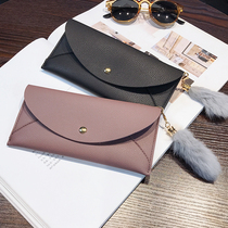 2017 new lady's wallet large Japanese and Korean students simple personality multifunctional slim wallet hand bag