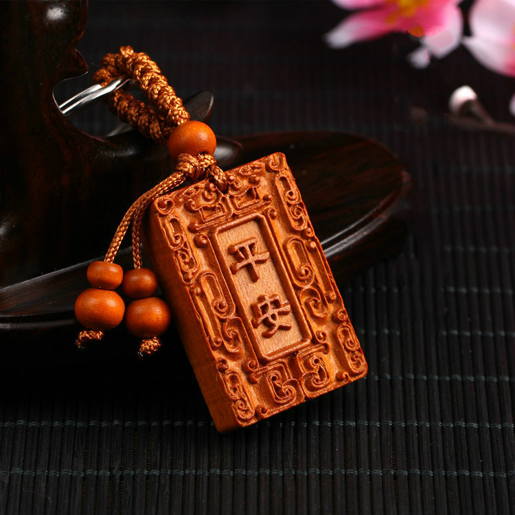 Usd peach wooden pendant to ward off evil spirits How to ward off bad spirits from your home