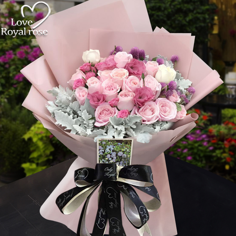 USD 70.73] Hangzhou flowers courier city roses hydrangea flower ...